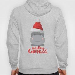 Hippopotamus Graphic for Christmas | Hippo Lovers Gift Hoody