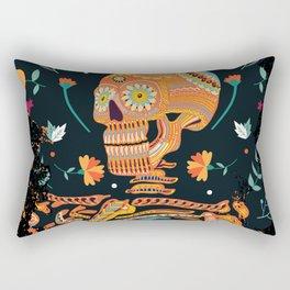 Day of the Dead Skeleton – Dia de los muertos – sugar skull – cool design Rectangular Pillow