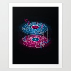 Aside / Beside Art Print