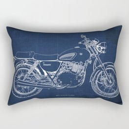 24-2013 Suzuki TU250X BLUE, Bike blueprint, gift for man Rectangular Pillow