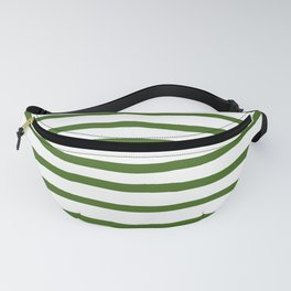 Simply Drawn Stripes in Jungle Green Fanny Pack