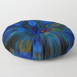 glitch mandala flower Floor Pillow