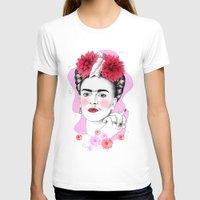 frida kahlo T-shirts featuring Frida Kahlo by sarah illustration