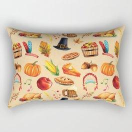 Thanksgiving Fall Autumn Pumpkin Turkey Rectangular Pillow