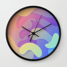 Rainbow flow | Fluid Contemporary design Wall Clock