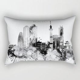Black And White Tokyo City Skyline Rectangular Pillow