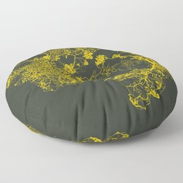 Physarum Polycephalum Floor Pillow