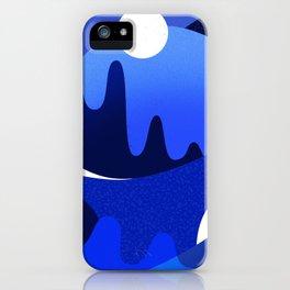 Terrazzo landscape blue night iPhone Case