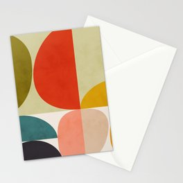 shapes of mid century geometry art Stationery Cards