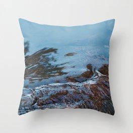 Cold Flow Throw Pillow