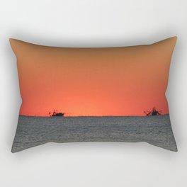 Trawlers at Sunset | Bald Head Island North Carolina Rectangular Pillow