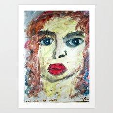 THE GIRL AT WORK Art Print
