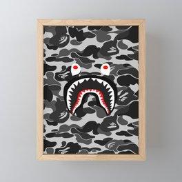 shark camo pattren Framed Mini Art Print