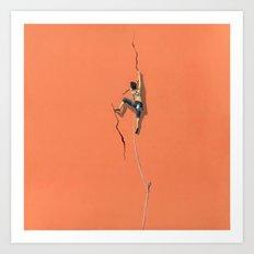 Climbing: Solitude Art Print