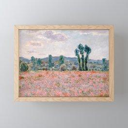 Poppy Field in Giverny by Claude Monet Framed Mini Art Print