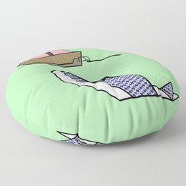 Origami Whale Floor Pillow
