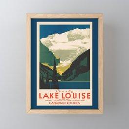 Lovely Lake Louise vintage travel ad Framed Mini Art Print