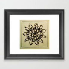 Eye Flower Framed Art Print