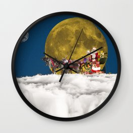 Santa and His Sleigh Wall Clock