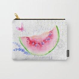 La Pastèque de Béziers—Watermelon and Lavender, Provence Carry-All Pouch