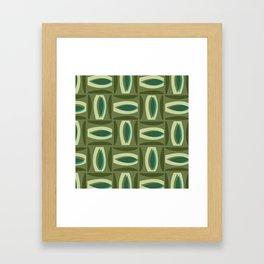 Alcedo - Green Framed Art Print