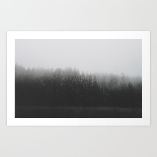 Frosted Trees Lake Art Print