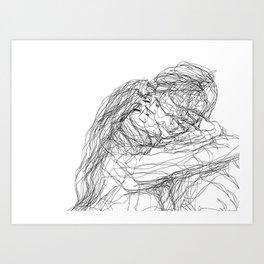 make-out? (B & W) Art Print