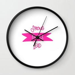 Strong Female Lead Filmmaker Fun Film School Quote Wall Clock