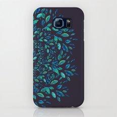 Blue Leaves Mandala Galaxy S8 Slim Case