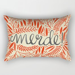 Pardon My French – Red on Cream Rectangular Pillow
