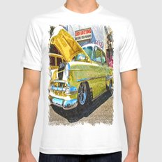 Classic Chevy Belair Mens Fitted Tee White MEDIUM