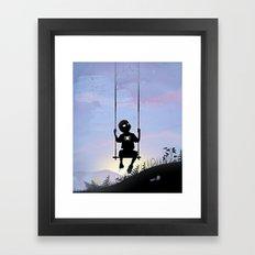 Spider Kid Framed Art Print