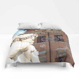 Bernini's Four Rivers Fountain Comforters