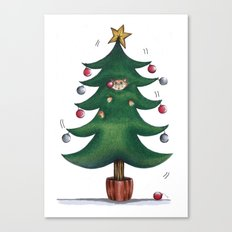 Purrfect Christmas Canvas Print