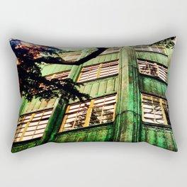 Day Seven: Healing Green Rectangular Pillow