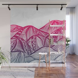 Lines in the mountains 05 Wall Mural