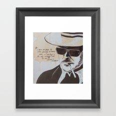 Hunter S. Thompson Framed Art Print