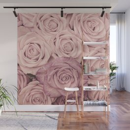 Some People Grumble - Pink Rose Pattern - Roses Wall Mural