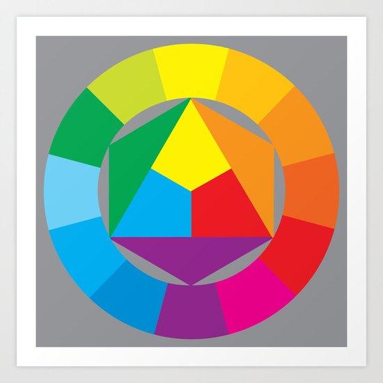 color wheel Art Print