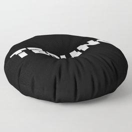 Techno sliced Floor Pillow