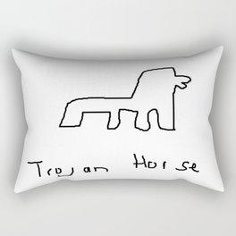 Trojan Horse Rectangular Pillow
