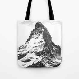 Black and White Mountain Tote Bag