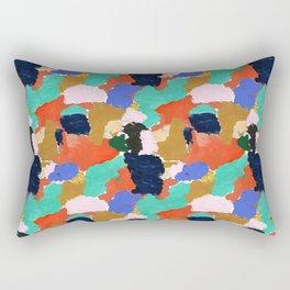 Kara - paint palette abstract minimal modern art bright colorful boho urban painting college dorm Rectangular Pillow
