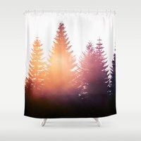 country Shower Curtains featuring Morning Glory by Tordis Kayma