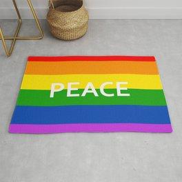 LGBT Pride Flag Peace Rug