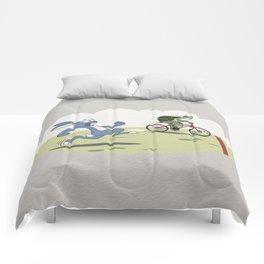 """Turtle and rabbit race"" Comforters"