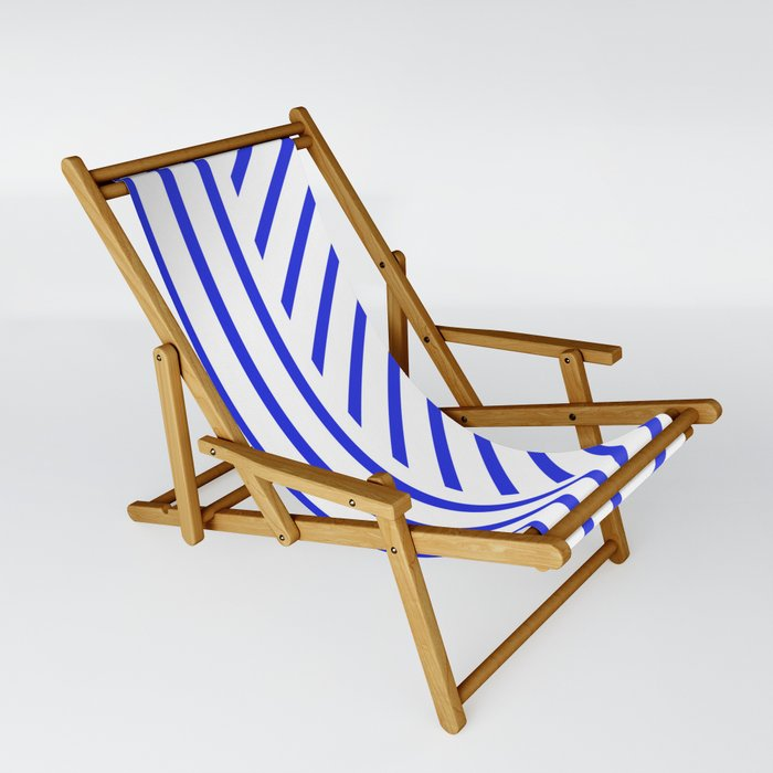 Lined Blue Sling Chair