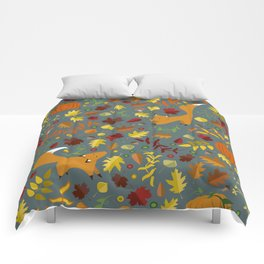 Fox In The Leaves Comforters