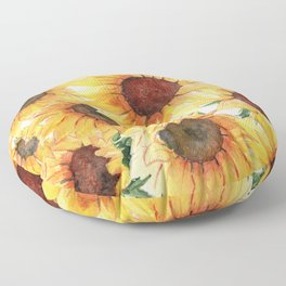 Sunflowers Bloom  Floor Pillow