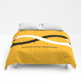 Never stop creating (the infinity pencil) Comforters